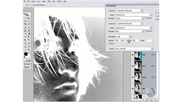 Employing the Subtract mode: Photoshop CS2 Channels & Masks