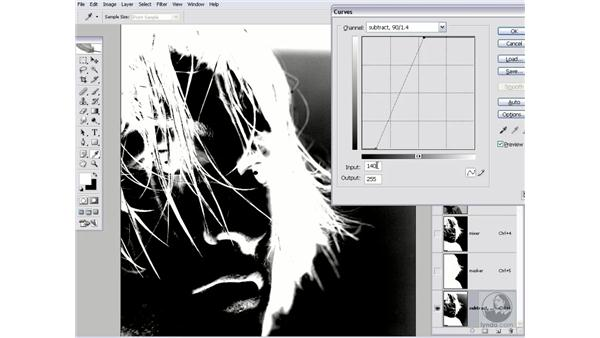 Enhancing the contrast with Curves: Photoshop CS2 Channels & Masks