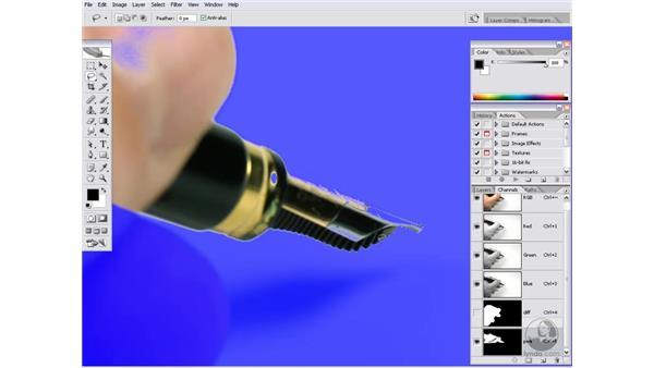 Adding an object mask: Photoshop CS2 Channels & Masks