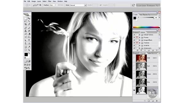 Masking blonde hair: Photoshop CS2 Channels & Masks
