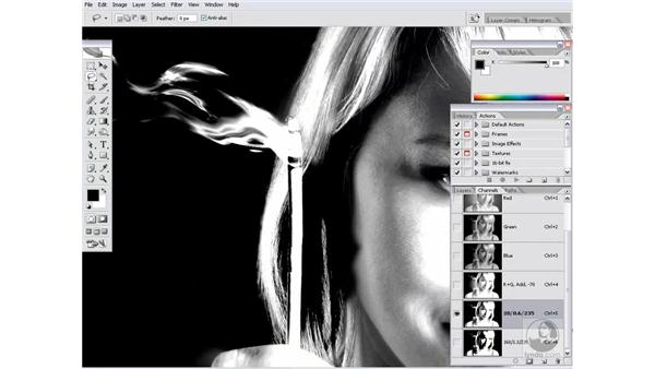 Merging two alpha channels: Photoshop CS2 Channels & Masks