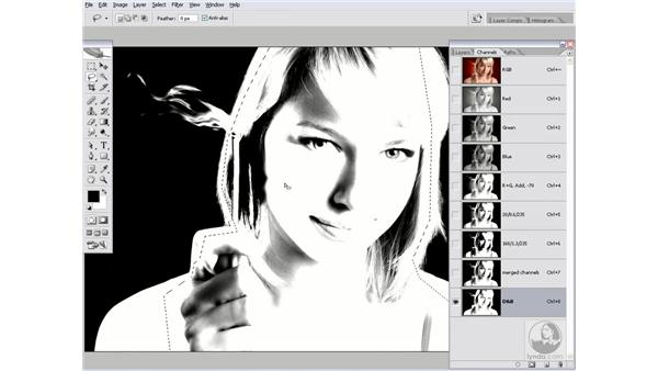 More fun with Dodge and Burn: Photoshop CS2 Channels & Masks