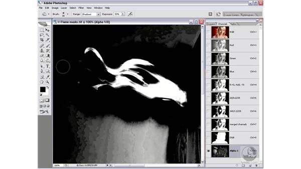 Amplifying a flame: Photoshop CS2 Channels & Masks