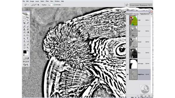 Creating a High Pass mask: Photoshop CS2 Channels & Masks
