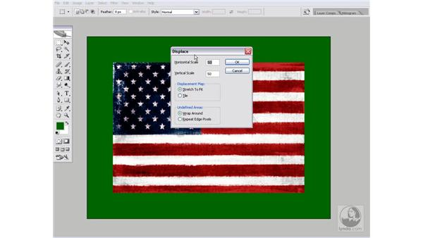 Creating a waving, shaded flag: Photoshop CS2 Channels & Masks