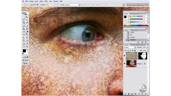 Wrapping stone around a face: Photoshop CS2 Channels & Masks