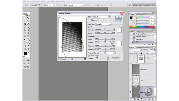 3-D embossing with Lighting Effects: Photoshop CS2 Channels & Masks