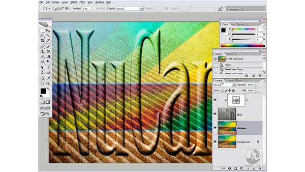 Wrapping the background around the text: Photoshop CS2 Channels & Masks
