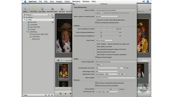 Sharing previews with iLife and iWork: Aperture 1.5 Beyond the Basics