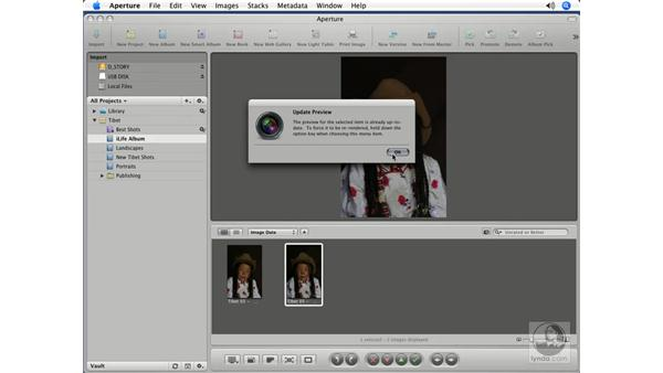 Opening Aperture images in iPhoto: Aperture 1.5 Beyond the Basics