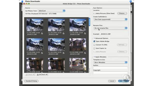 Using the Photo Downloader: Photoshop CS3 New Features