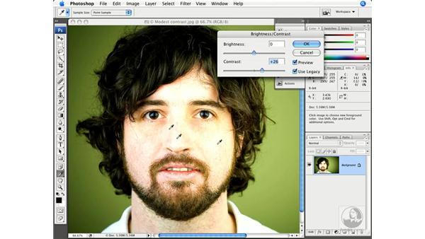 Enhanced Brightness/Contrast: Photoshop CS3 New Features