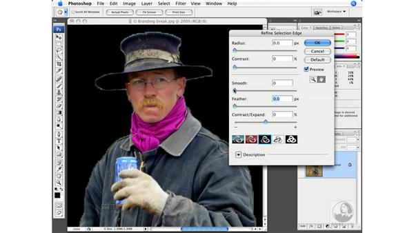 The Refine Selection command: Photoshop CS3 New Features