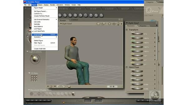 Adding poses to the library: Poser 7 Essential Training