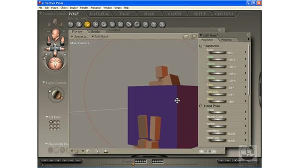 Animating using the editing tools: Poser 7 Essential Training