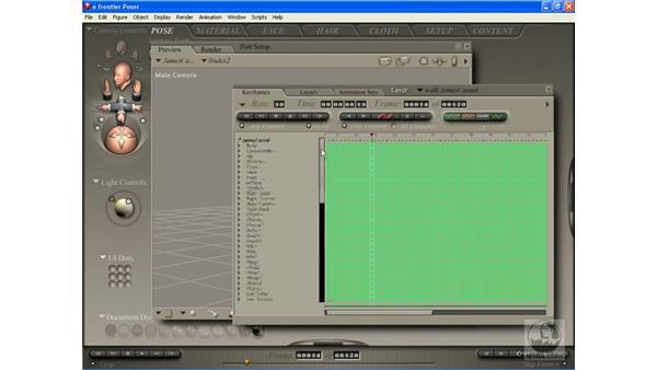 Editing keyframes: Poser 7 Essential Training