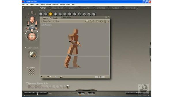 Importing motion capture data to animate characters: Poser 7 Essential Training