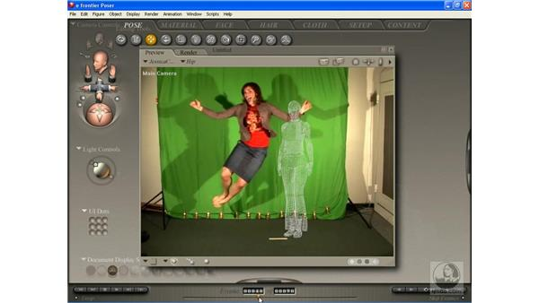 Animating to imported ref pt. 1: Poser 7 Essential Training