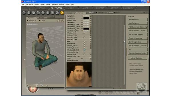 Editing character materials: Poser 7 Essential Training