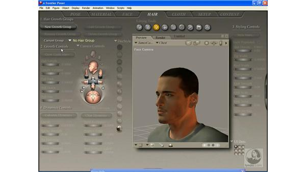 The Hair Room interface: Poser 7 Essential Training