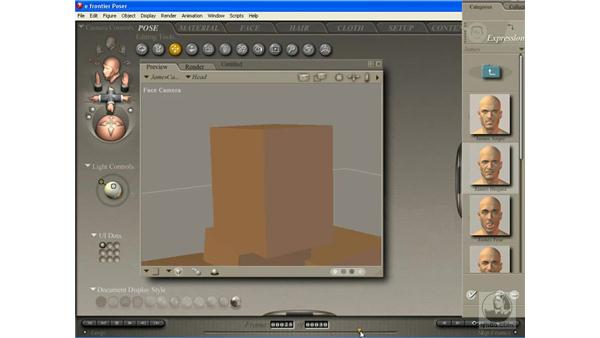 Animating facial expressions in Poser: Poser 7 Essential Training