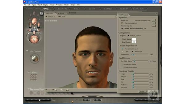 Creating lip-synched animation with Poser's Talk Designer: Poser 7 Essential Training