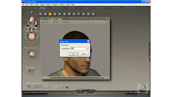 Exporting images from Poser: Poser 7 Essential Training