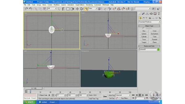 Overview of the standard 3ds Max workflow: 3ds Max 9 Essential Training