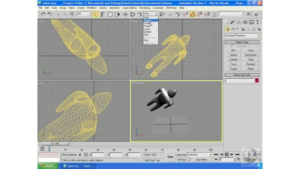 Max's coordinate systems: 3ds Max 9 Essential Training