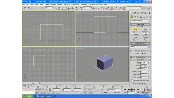 Creating basic objects: 3ds Max 9 Essential Training