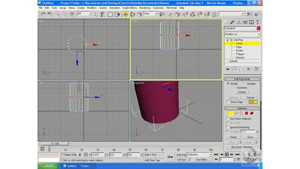 Sub-Object level: 3ds Max 9 Essential Training