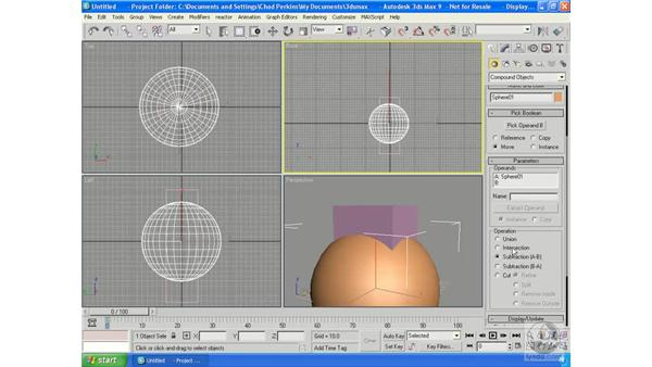 Creating compound objects: 3ds Max 9 Essential Training