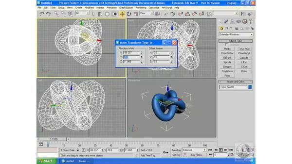 Using the three basic transforms: 3ds Max 9 Essential Training