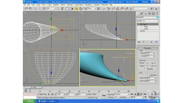 Understanding modifiers: 3ds Max 9 Essential Training