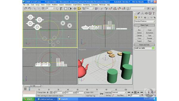 Grouping essentials: 3ds Max 9 Essential Training