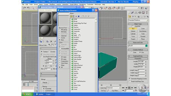 Adding a basic map: 3ds Max 9 Essential Training