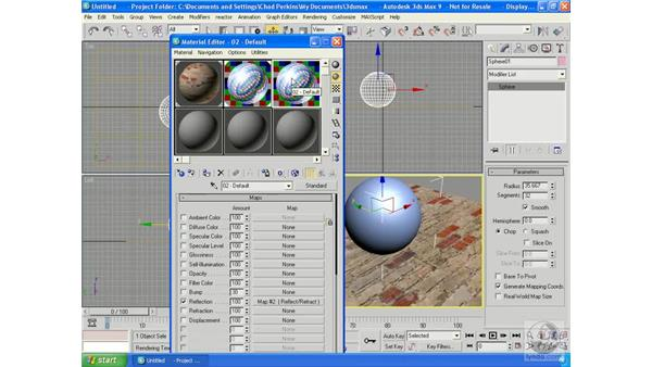 Reflection/refraction: 3ds Max 9 Essential Training