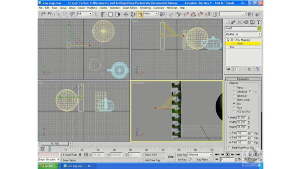 UVW mapping: 3ds Max 9 Essential Training