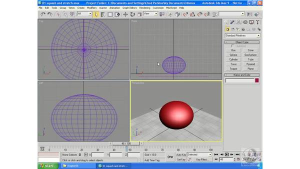 Squash and stretch: 3ds Max 9 Essential Training
