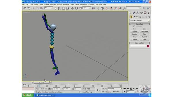 Anticipation: 3ds Max 9 Essential Training