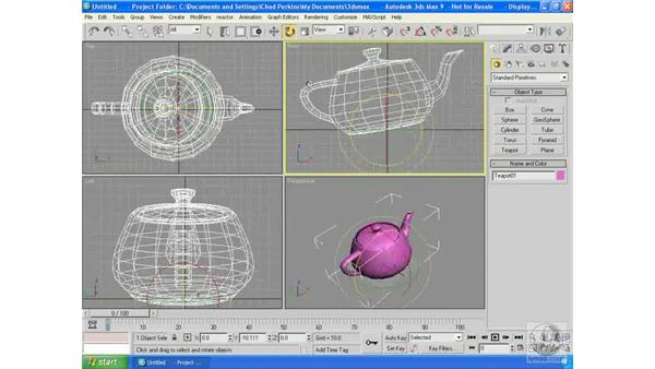 Adjusting pivot points: 3ds Max 9 Essential Training