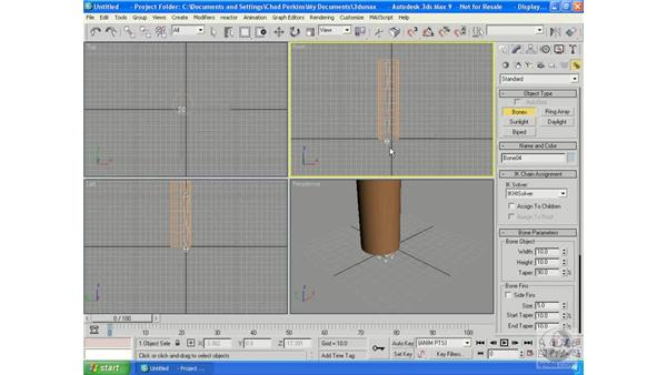 Using bones: 3ds Max 9 Essential Training