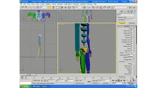 Bipeds: Creating, altering, and animating: 3ds Max 9 Essential Training