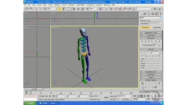 Using motion capture files: 3ds Max 9 Essential Training