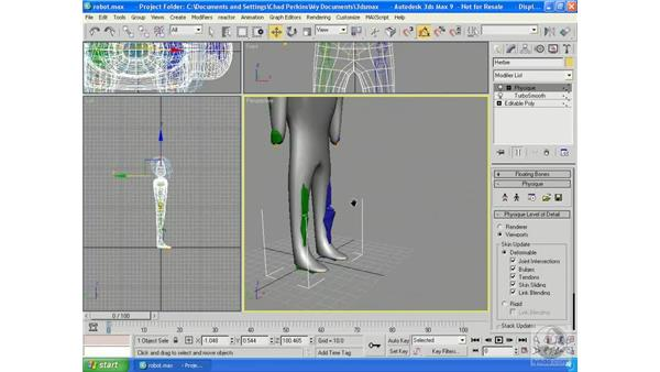 Linking Mesh to Biped: 3ds Max 9 Essential Training