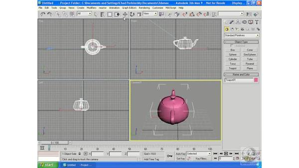 Types of cameras: 3ds Max 9 Essential Training