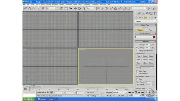 Camera navigation and animation: 3ds Max 9 Essential Training