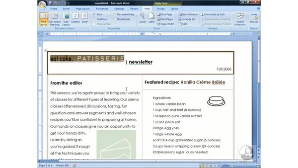 Navigating the interface: Word 2007 Essential Training