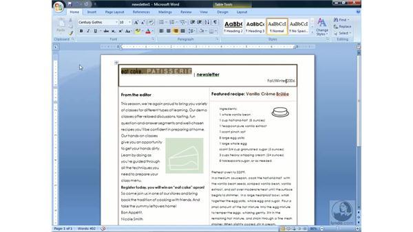 Saving documents: Word 2007 Essential Training