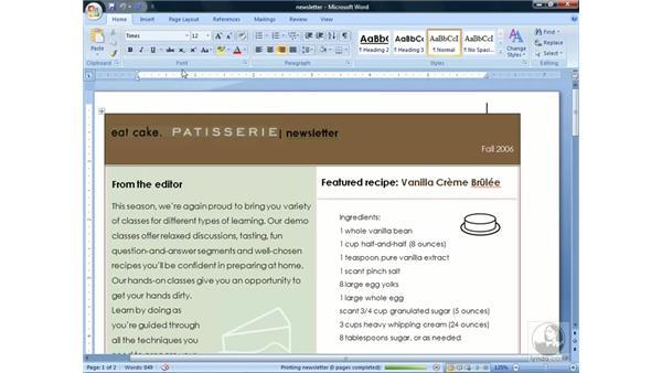 Using Quick Print: Word 2007 Essential Training